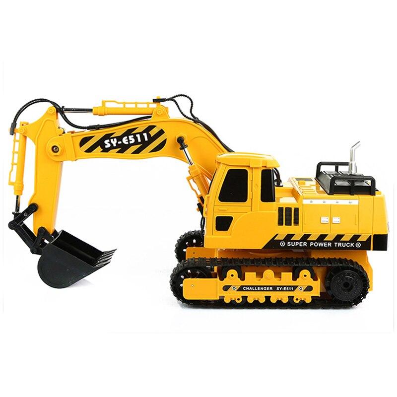 660 degrés rotation Grande taille RC pelle camion Simulation voiture d'ingénierie pelle modèle garçons amour jouet meilleur cadeau pour Noël