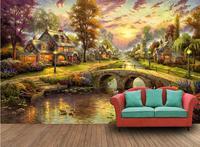 customize modern 3d wallpaper Forest Lodge 3d wall murals wallpaper non woven wallpaper background photo wallpaper