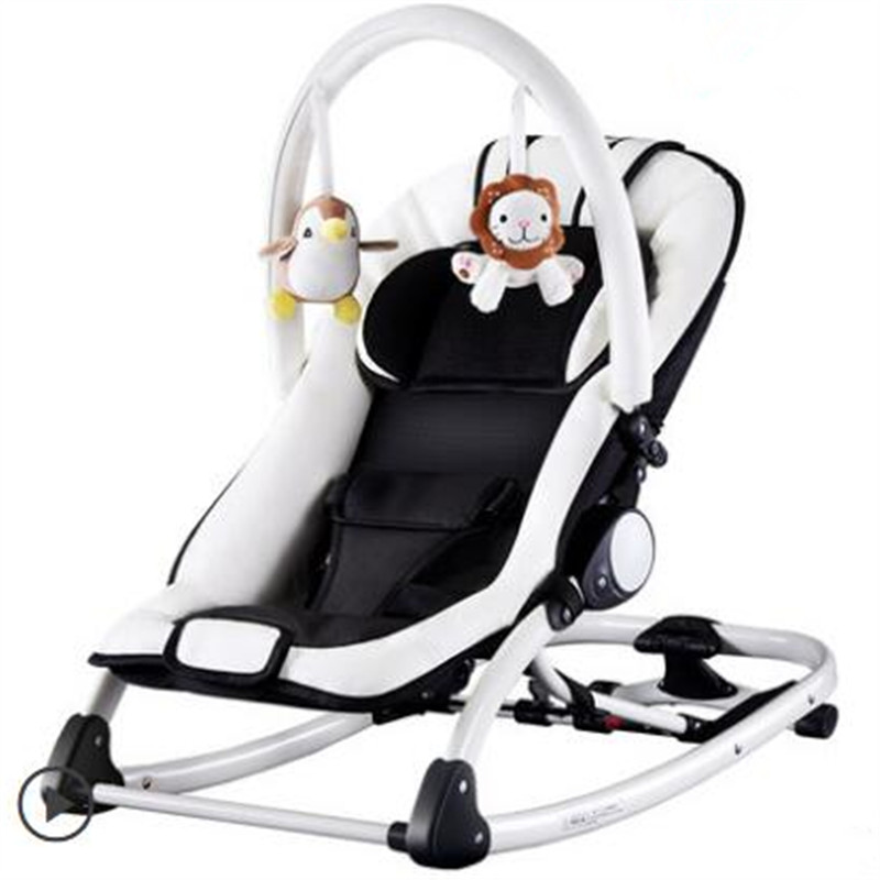 все цены на Electric Baby Swing Bouncer Rocking Chair For Baby Children Trampoline Lounge Chair For Newborns