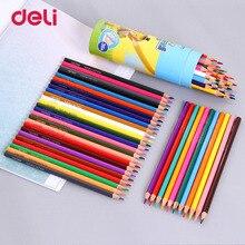 Deli Drawing Graphite Color Pencil Water Soluble Color Pencil 12 18 24 36 Colors Box Art