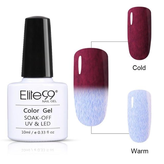 Elite99 10 ml Temperatur Farbe-ändern Pelz Gel Polish Long Lasting UV LED Gel Lacke Semi Permanent Gel Nagel polnischen Lack