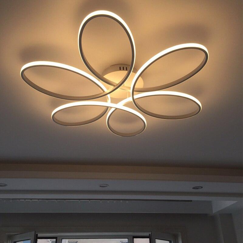 A distanza di controllo Luci di Soffitto per soggiorno camera da letto Bianco balck Colore del corpo A Casa Deco Lampada AC90-260V apparecchio di illuminazione a Casa