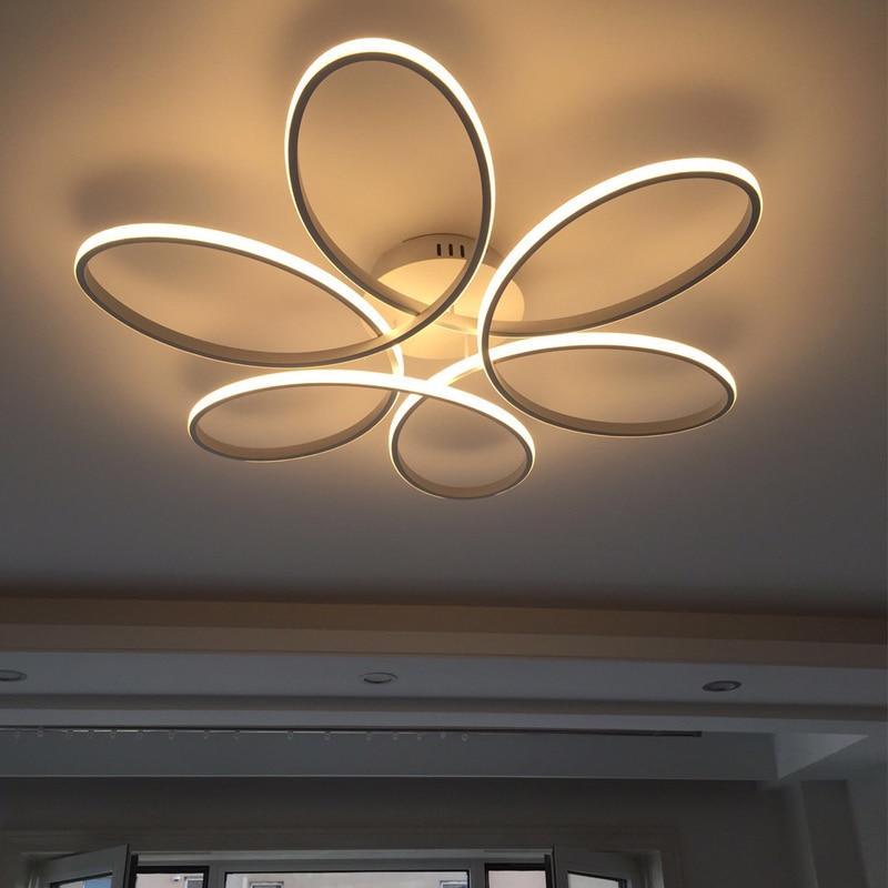 Télécommande Plafond Lumières pour salon chambre Blanc balck corps Couleur Accueil Déco Lampe AC90-260V Maison luminaire