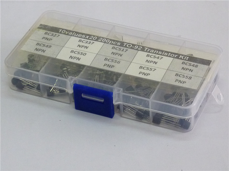 10 valores x20 200 piezas a 92 Transistor surtido Kit surtido BC327 BC337 BC517 BC547 BC548 BC549 BC550 BC556 BC557 BC558