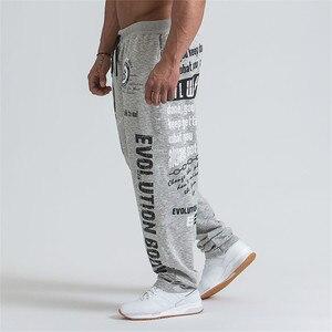 Image 3 - 2019 חדש גברים רצים מוצק צבע ספורט מכנסיים גברים כושר מכנסיים כותנה אלסטי ארוך מכנסיים גברים שרוכים ספורט מכנסיים זכר חותלות