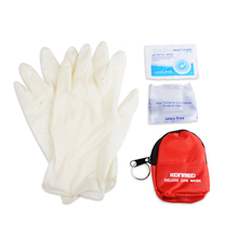 2 Pieces Emergency First Aid CPR Rescue Mask Keys Chian CPR Face Shield Mini Kits With Wipes Gloves
