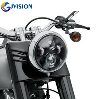 1 PCS 7'' inch Round Harley led headlight high/Low Beam 12V Waterproof headlight for Motorcycle FLD Tour Glide