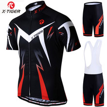X-TIGER 2019 Cycling Jersey set Road Mountain Bike Cycling Clothing set MTB Bicycle Sportswear Suit Cycling Clothes Set For Mans(China)