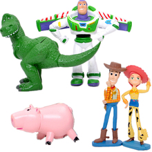 Disney Pixar Toy Story 4 Woody Buzz Lightyear Jessie toy story decoration Sheriff cowboy kids Educational Model For Children