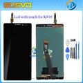 100% novo para lenovo k910 lcd display + touch screen painel assembléia digitador para vibe z telefone celular frete grátis + ferramentas