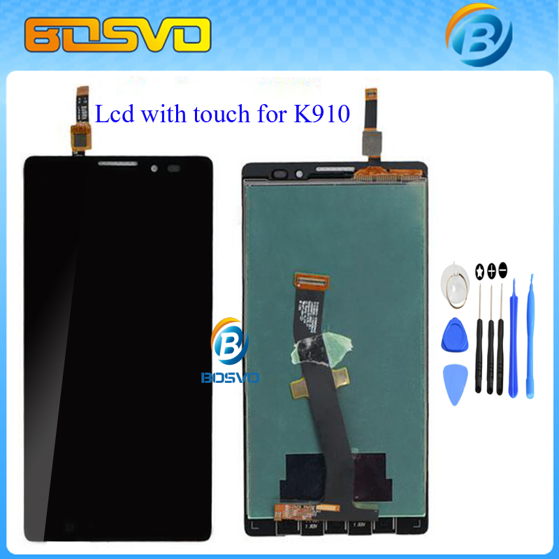 100% nuevo para lenovo k910 lcd display + touch screen panel asamblea digitaliza