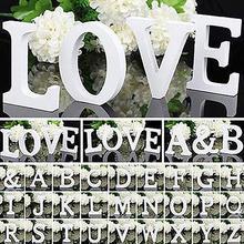 Большие деревянные буквы Алфавит настенный DIY художественное ремесло Свадебная вечеринка домашний декор lettre Алфавит украшение letras decorativas