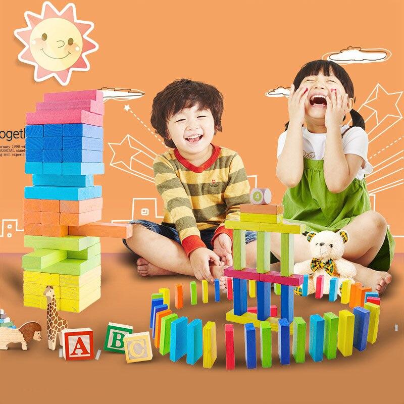 54pcs Early Education Children's Wooden Toys Stacked Children's Parent Game Blocks lego education 9689 простые механизмы