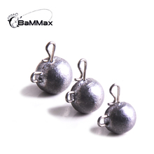 Bammax 10pcs 2.8g 4.8g 10g Universal lead jig head Weight Match crank hook fly fishhooks carp fishing accessories counterweight