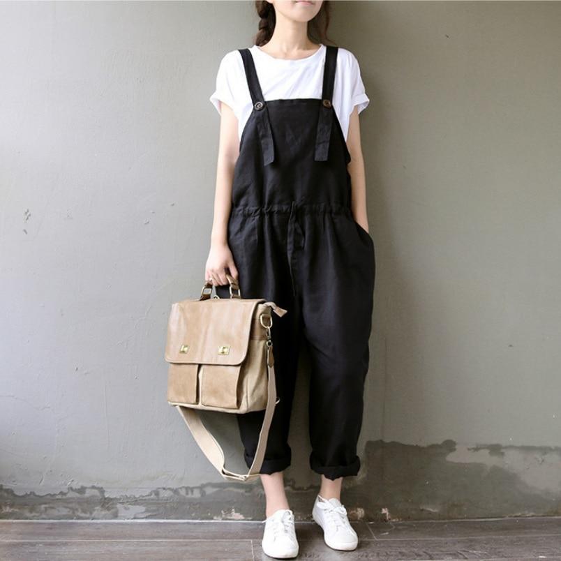 Letní bavlněné kombinézy Dámské kalhoty Plus velikosti Harem Kalhoty Dámské kalhoty kalhoty M / L / XL