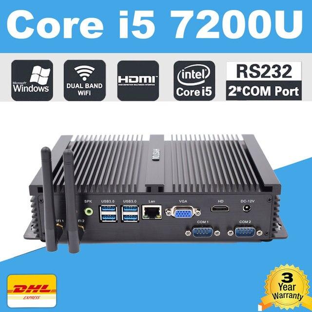 Intel Core i7 4500U Industrial Mini PC Win10 Mini Computer DDR3L RAM mSATA SSD Minipc Intel NUC 4K HD RS232 i5 Portable PC 7200U