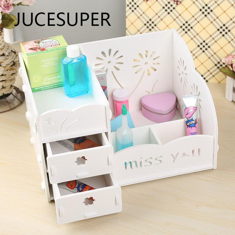 Korean DIY Cosmetics Storage Box Multifunction Storage Rack Bathroom Waterproof Desktop Storage Box Simple Wood. Online Get Cheap Wood Bathroom Storage  Aliexpress com   Alibaba Group