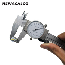 NEWACALOX Metric Gauge Measuring Tool Dial Caliper 0-150mm/0.02mm Shock-proof Stainless Steel Precision Vernier Caliper