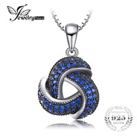 JewelryPalace 0 5ct Created Blue Spinel Flower Wraparound Cluster Pendant Necklace 925 Sterling Silver Jewelry For
