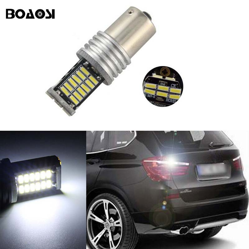 BOAOSI 1x New Upgrade Backup Reverse Light Lamp 1156 P21W LED 4014 Chip High Power LED Bulb For BMW E30 E36 E46 F30 new colour 15cm 25cm 30cm 35cm 50cm bjd wigs straight hair extension hair piece for 1 3 1 4 1 6 bjd sd dollfie 1pc
