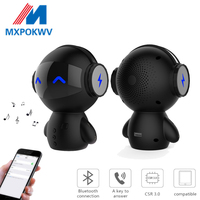 Portable Wireless Bluetooth Speaker Dancing Cartoon Robot Speakes Power Bank Mini Bluetooth Stereo Music Palyer Loudspeakers