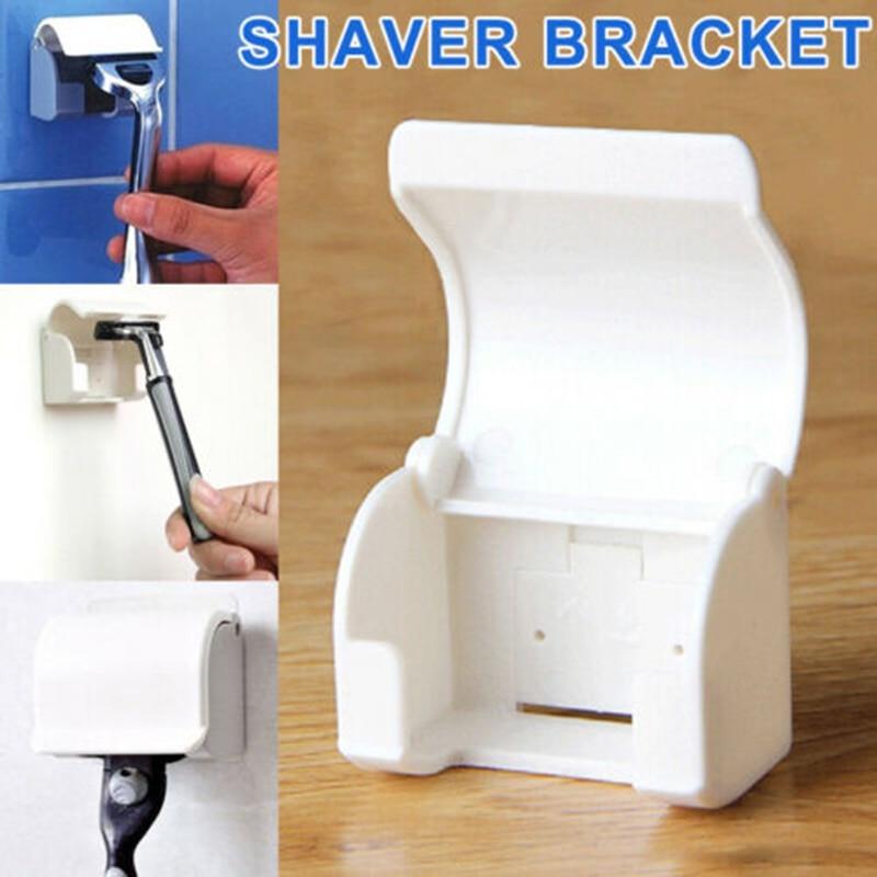 1PCS Dustproof Men Razor Holder Wall Self-adhesived Shaver Holder Hanging Rack Bathroom Accessory