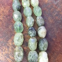 Fashion Green Peridot Olivine Qaurtzs Loose Beads Strand Faceted Oval Shape Stone Jewelry Beads BE6507