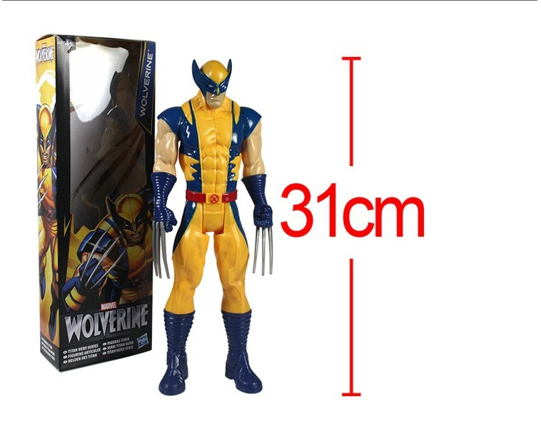 2015 new Free Shipping Marvel Super Hero X-men Wolverine PVC Action Figure Collectible Toy 1231CM with box saintgi x men the last stand wolverine super hero captain america marvel pvc 29cm x men model action figure doll boy toy gift