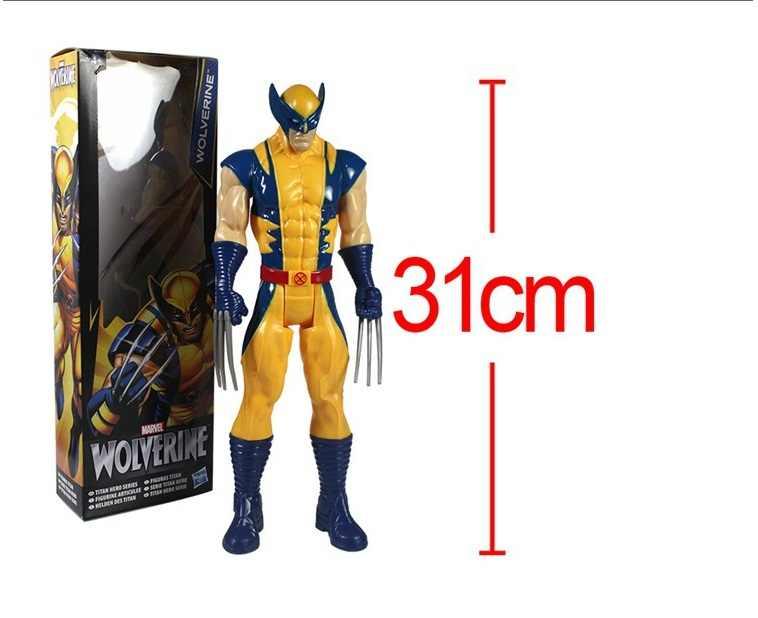 """2015 novo frete grátis marvel super herói x-men wolverine pvc figura de ação collectible brinquedo 12 """"31 cm com caixa"""