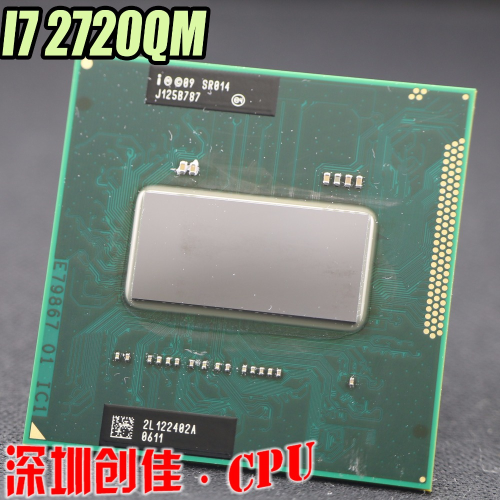 Original Processor Intel PGA I7 2720QM CPU 2.2-3.3G 6M Cache SR014 Laptop Cpu I7-2720QM Support HM65 intel p6200 slbua 2 13 2m pga bloomfield dual core cpu black mirror silver
