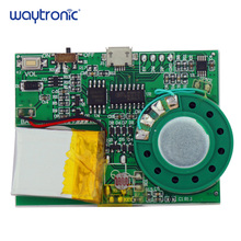 Light Sensor Activated USB Download MP3 Sound Playback Circuit Module with Lithium Battery for Postcard Christmas Greeting Card