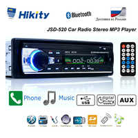Hikity Bluetooth Autoradio 12V Auto Stereo Radio FM Aux-IN Eingang Empfänger SD USB JSD-520 In-dash 1 din Auto MP3 Multimedia Player