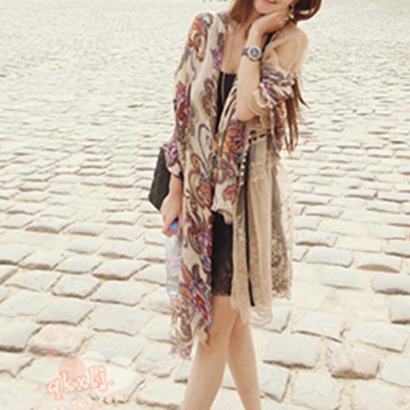 Fashion   Scarf   Women Flower Printing Soft Chiffon Hijab Shawls and   Scarves   Lady Summer Beach   Wrap     Scarf   Womens Bandana W3