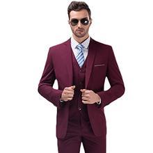 Multi Color Custom Slim Fit Notch Lapel Blazer Tuxedo Mens 3 Pieces Wedding Formal Suit Terno Jacket Pants Vest Set Suit Men недорого