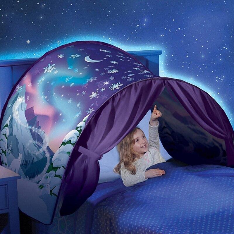 Niños tienda bebé fantástico estrellas sueño tiendas fantasía plegable unicornio Luna 82*220 cm espacio cósmico nieve tiendas de lujo dormir Prop