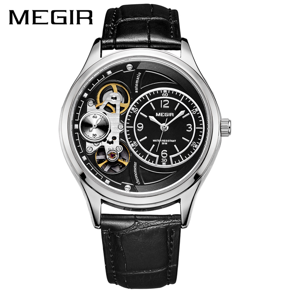 MEGIR Original Men Watch Top Brand Luxury Quartz Watches Relogio Masculino Leather Military Watch Clock Men Erkek Kol Saati 2017 soxy brand fashion men s watch men watch military sport watch auto date watches clock saat erkek kol saati relogio masculino