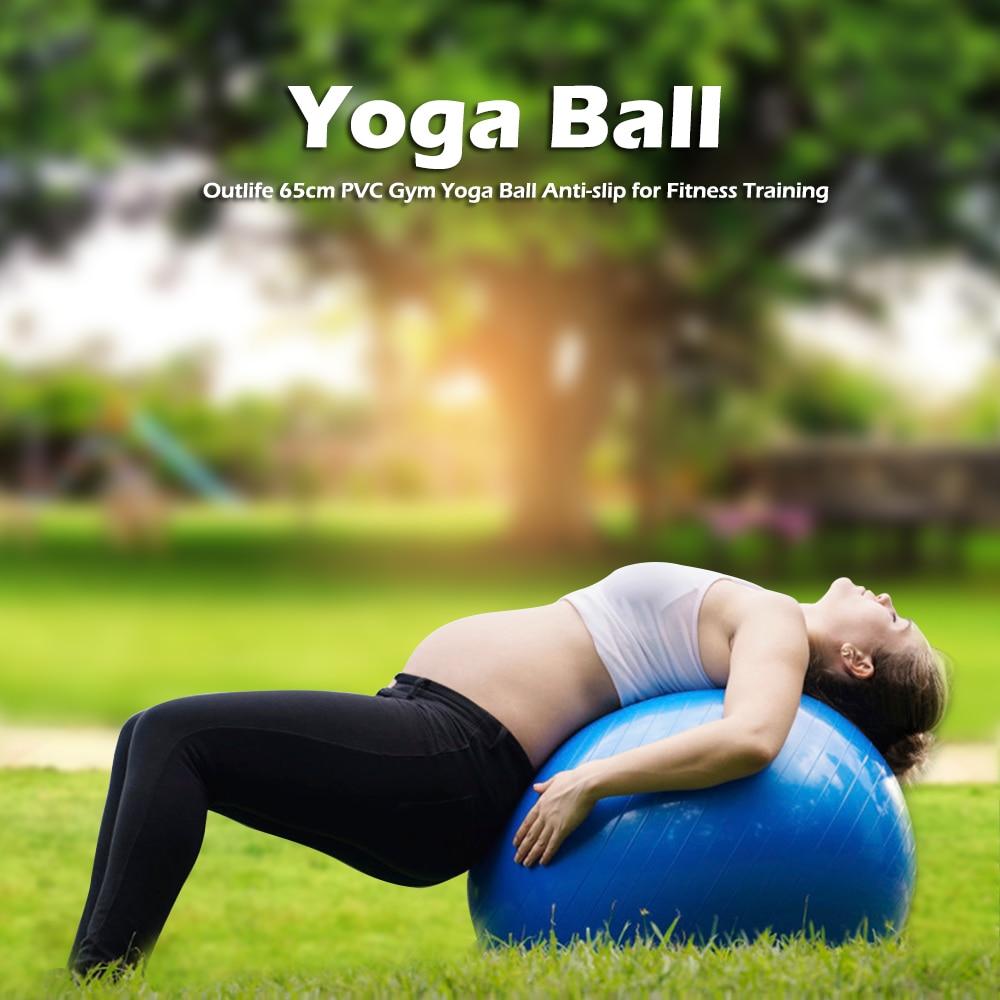5 Colors Yoga Ball for Fitness 65cm Pilates Balance Sport Fitball Utility Yoga Balls Pro ...