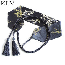 Ethnic Style Ladies Women Belt Tassel Straps Girdle Embroidery Wide Waist Strap Clothing Accessories Skirt Belts