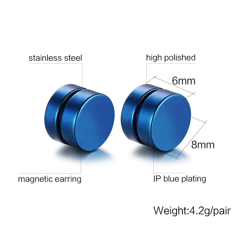Men's Colorful Set of Magnetic Ear Clips
