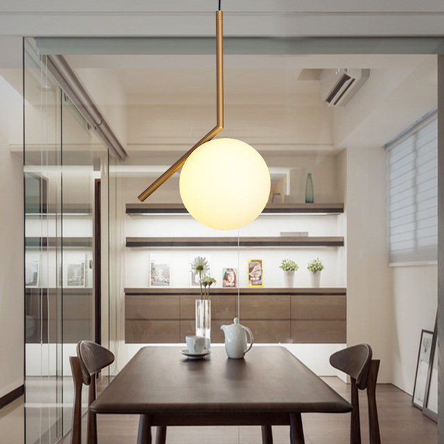 D20/D30CM Modern style living room bedroom minimalist restaurant pendant light Nordic clothing decoration glass ball