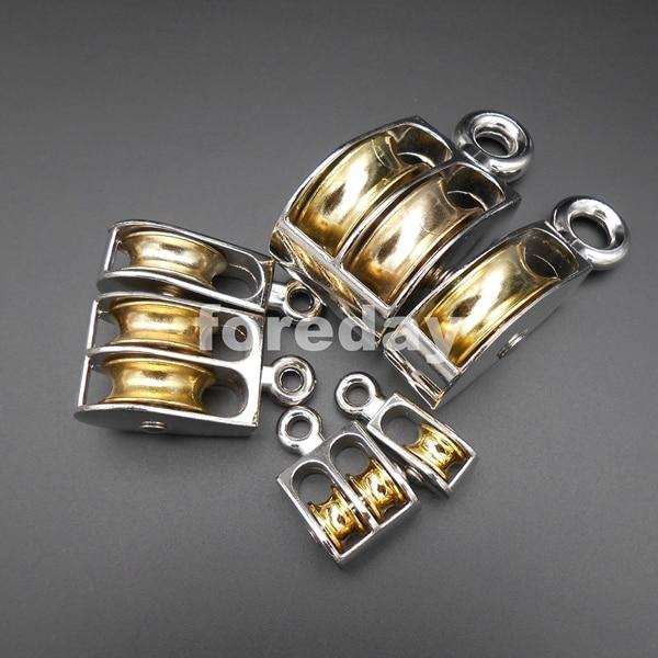 36//52//75MM Swivel Pulley Sheave Rigging Metal Lift Hoist Rope Hanging Lifting HQ