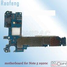 Raofeng в разобранном виде высокое качество 32 Гб материнская плата для Samsung note 5 n920c разблокирована l материнская плата wcdma хорошо работает с чипами