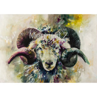 Handpainted Paintin Modern Style Abstract Oil Painting Canvas animals painted sheep Oil Pictures Decorative Painting Wall Art