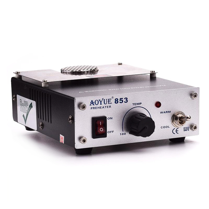 220V Aoyue 853 ESD Safe Compact Preheater Station with Variable Temperature Setting
