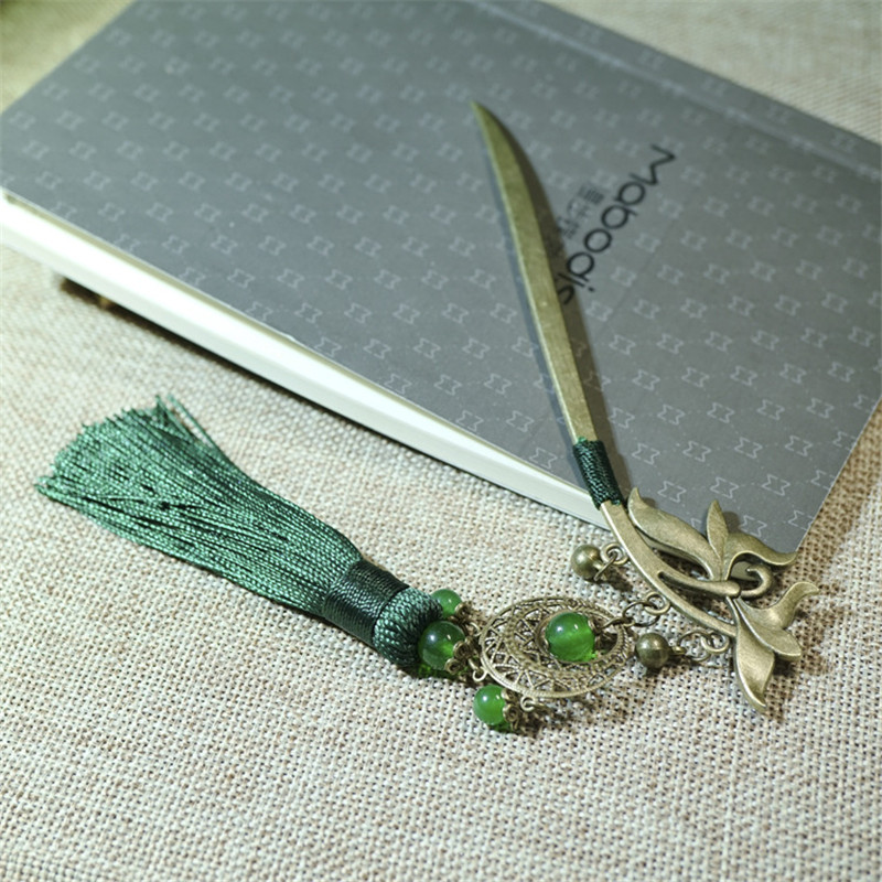 Haarsticks voor vrouwen Verticale clip Nieuwe collectie Retro Groen - Mode-sieraden - Foto 4