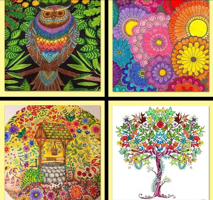 2015 Full Set Of Secret Garden Fantasy Dream 2 Books Art Inky Coloring Book Children Adult