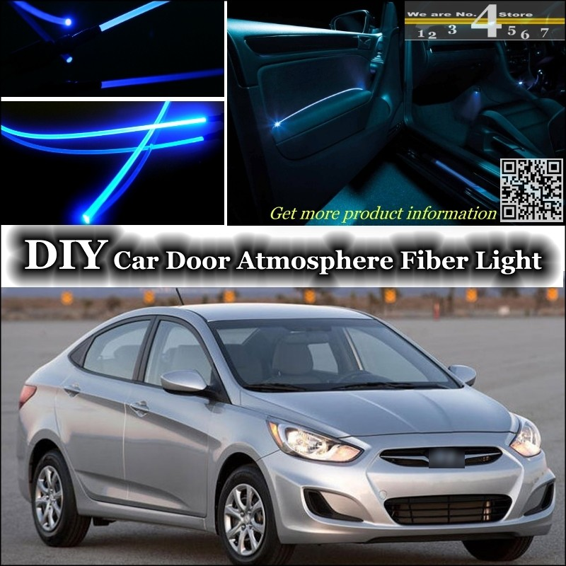 Us 21 85 13 Off For Hyundai Accent Verna I25 Interior Ambient Light Tuning Atmosphere Fiber Optic Band Lights Door Panel Illumination Tuning In