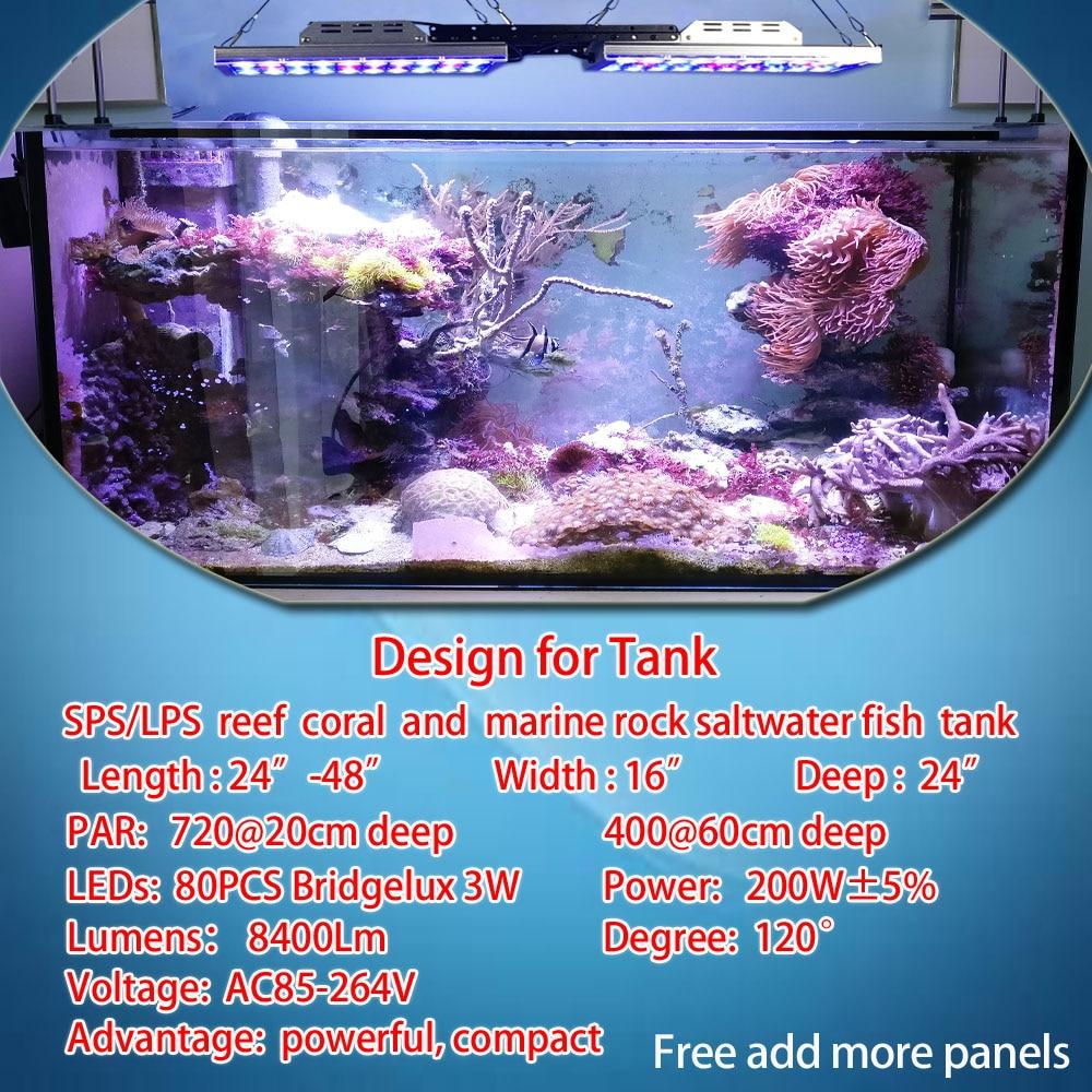 DSunY marine aquarium led lighting Programmable reef coral fish tank ...