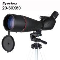 Новый Eyeskey 20 60x80 водонепроницаемый Зрительная труба Оптическая Труба с зумом полное многослойное наблюдение за птицами монокулярный телеск