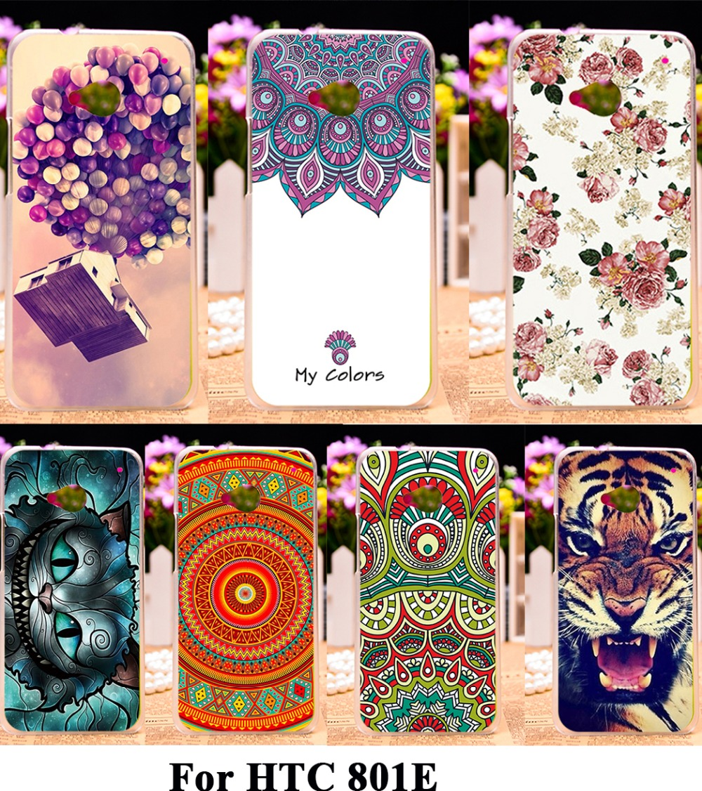 AKABEILA Silicon Plastic Phone Cases For HTC ONE M7 801E 801S Single Sim 801 4.7 Inch Bag Cover Housing For HTC ONE M7 801E Case